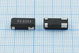 кварцевый резонатор 9.8304МГц в корпусе SMD 13.2x5мм, 9830,4 \SMD13250P4\30\\\MG3A\1Г (R9.8304)