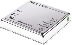 RP40-240515TG, DC/DC,REG,18- 36VI,5/+/-15VO 6A/+/-3A,40W