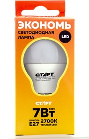 СТАРТ ECO LEDSphereE27 7W30 10/100
