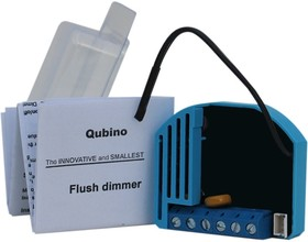 Фото 1/2 Qubino-FD-10V, Диммер Z-Wave Qubino Flush Dimmer 0-10V, вход/выход 0-10В, управления LED-лампами, вентиляторами и к