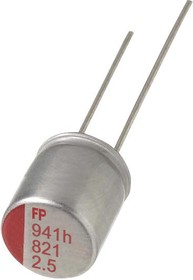 RL81C331MDN1KX, Polymer Aluminium Electrolytic Capacitor, 330 мкФ, 16 В, Радиальные Выводы, FPCAP RL8 Series