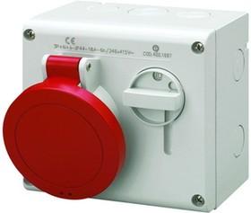 Розетка наруж. уст. 16А 400В 3P+E+N IP44 ДКС DIS5001687