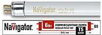 Фото 1/2 Лампа люминесцентная 94 106 NTL-T5-06-840-G5 6Вт T5 4200К G5 Navigator 94106