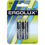 Элемент питания алкалиновый LR6 BL-2 LR6 BL-2 1.5В Alkaline (блист.2шт) Ergolux 11747