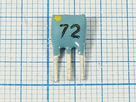 Пьезокерамический полосовой фильтр 10.72МГц, ширина полосы 130кГц, пкер ф 10720 \пол\130/3\SFEL\ 3P\ФП1П6-515
