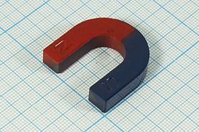 Магнит подкова ( U-образный) 13573 магнитU 30,0x30,0x 7(s8x7)\U-образный\ \фер\\кр/син