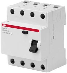 Выключатель диф. тока 4п 63А 30мА тип AC Basic M BMF41463 ABB 2CSF604041R1630