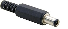 DJK-11D, Разъем питания штырев. 1,35х3,45мм (м) на каб. с аморт