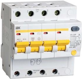 Выключатель автоматический дифференциальный АД-14 4п 50А 30мА С