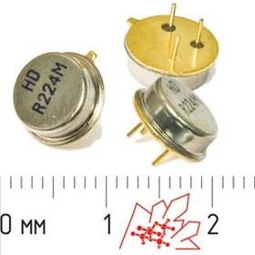 Фото 1/3 ПАВ резонаторы 224МГц в корпусе ТО39, SAW 224000 \TO39\\335\\HDR224MTO\3P (HDR224M)