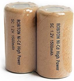 1500NCSC, Аккумулятор никель-кадмиевый Ni-Cd 1500mAh (1шт) 1.2В(23х43мм)