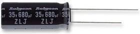 ECAP (К50-35), 1800 мкф, 10В, 10x20, 10ZLJ1800M10X20, Конденсатор электролитический алюминиевый