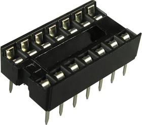 Фото 1/3 SCS-14 (DS1009-14AN), DIP панель 14 контактов узкая