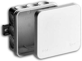 Тусо.Коробка разв. для о/п 85х85х35мм (белая), 12 вводов, IP54
