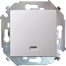Simon15 Выключатель одноклавишный с подсветкой 16А 250В винтовой зажим белый