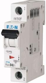 Выключатель автоматический модульный 1п C 40А 6кА PL6-C40/1 EATON 286537