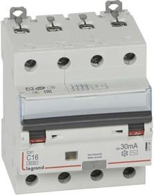 Выключатель автоматический дифференциального тока 4п C 16А 30мА тип AC 6кА DX3 4мод. Leg 411186