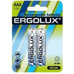 Аккумулятор AAA-600мА.ч Ni-Mh BL-2 1.2В (блист.2шт) Ergolux 12977