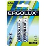 Аккумулятор AAA-800мА.ч Ni-Mh BL-2 1.2В (блист.2шт) Ergolux 12978