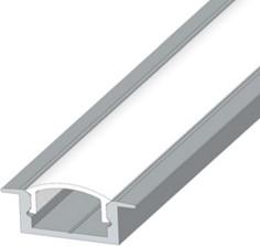 Профиль ЛПВ7 - LED алюминиевый врезной 7?16 мм, серебро