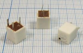 Пьезокерамический полосовой фильтр 465кГц с полосой пропускания 10кГц пкер ф 465 \пол\ 10/6\7,5x7x8\ 3P\ФП1П1-61-02 (чер)