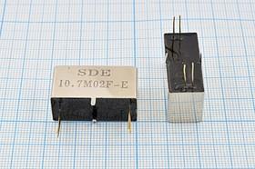 Фильтр кварцевый полосовой 10.7МГц 12-го порядка, полоса 2.4кГц/3дБ ф 10700 \пол\ 2,4/3\MCF28\4P\ 10,7M02F-E\12пор\SDE