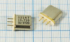 Фильтр кварцевый полосовой 10.71МГц 2-го порядка,полоса 6кГц/3дБ, ф 10710 \пол\ 6,0/3\HC49T-3\ \10,71M6A\\A-5 + IS