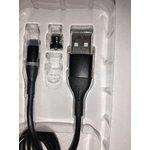 PL1151, Магнитный кабель micro USB, 1м, черный