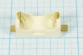 Фото 1/4 Батарейный держатель для элемента ER14250=1/2AA с позолоченными контактами 10585 бат держ 1/2AA\\\2Csmd\ BH1/2AA-SM\SMD\MPD