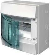 Фото 1/3 Бокс настенный Mistral65 8М прозр. дверь ABB 1SL1201A00