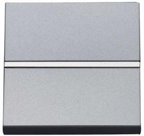 Механизм выключателя 1-кл. с клавишей 2мод. Zenit серебристый ABB 2CLA220100N1301