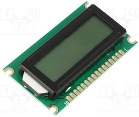 DEM 08171 SYH, Дисплей: LCD; алфавитно-цифровой; STN Positive; 8x1; 60x33x9,8мм