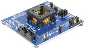 MSP-TS430PZ100B, Макетная плата, 100-контактное гнездо ZIF для устройств MSP430 QFP, J-TAG адаптер