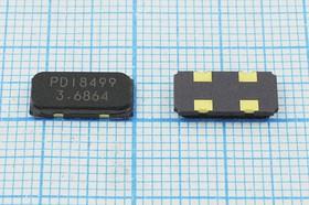 кварцевый резонатор 3.6864МГц в корпусе SMD 12x 5.5мм,с нагрузкой 20пФ, 3686,4 \SMD12055C4\20\ 50\\C1\1Г