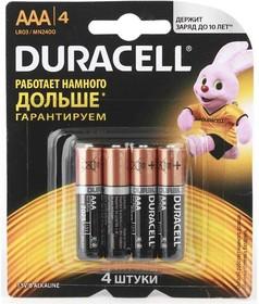 Элемент питания алкалиновый LR MN 2400/LR03 Basic BP-4 (блист.4шт) Duracell Б0014046/Б0026813,шт