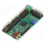 POLOLU-1356, Контроллер, USB-UART, Каналы 24, 279x584мм, 5-16ВDC, 1-333Гц