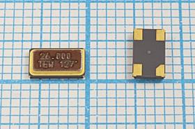 кварцевый резонатор 26МГц в корпусе SMD 6x3.5мм с четырьмя контактами, под нагрузку 10пФ 26000 \SMD06035C4\10\ 10\\TSS-6035B\1Г (TEW)