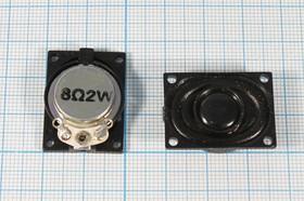 Динамик прямоугольной формы 27x20x5мм, 8 Ом, 1Вт, ошибочная маркировка мощности, 4655 V дин 27x20x 5\ 8\1,0\пл/пл\2C\ VS2720R8F700P1\VOIS