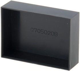 Фото 1/2 G705020B, Корпус для РЭА 70.5х50.5х20мм, пластик, черный