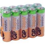 Батарейка GP Super Alkaline АА (LR6) 10 шт. (15А-OS10)