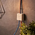 06-0106-C, Розетка телефонная + сетевая LAN, на стену, (гнездо 8Р8С (Rj-45) + ...