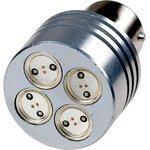 S25-RB-15S-4LED-4W-Y, 12V, LED лампа желтая S25 BA15S(D) ...