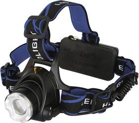 Фонарь ULTRAFLASH E150 налоб акку 220в черный cree 3 ватт фокус 2 ак 3 реж пласт бокс