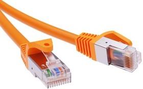 Патч-корд экранированный кат.6а F/UTP 4х2 LSZH 1.5м оранж. ДКС RN6AFU4515OR