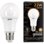 Лампа светодиодная Black A70 22Вт 3000К E27 Gauss 102502122