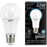 Лампа светодиодная Black A70 22Вт 4100К E27 Gauss 102502222