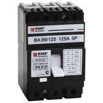 Выключатель авт. 3п ВА-99 125/63А EKF mccb99-125-63