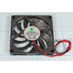 Вентилятор постоянного тока 12 Вольт, 80x80x10мм, подшипник скольжения ...