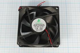 Фото 1/5 Вентилятор постоянного тока 48 Вольт, 80x80x25мм,шариковый подшипник, 3500об/мин, ВН263B вент 80x80x25\ 48В\0,15А\2L\ШП\FSY80B48H