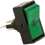 Фото 2/2 ASW-11D (зеленый), Переключатель с подсветкой ON-OFF (20A 12VDC)